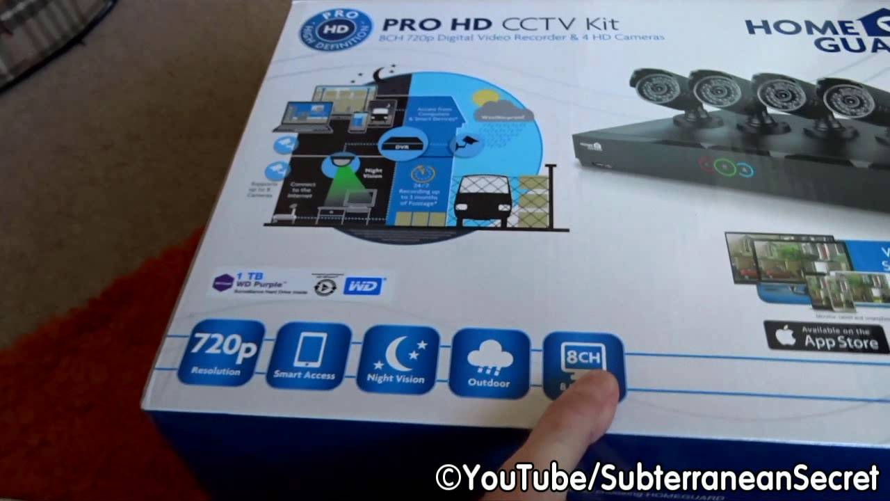 A Quick Look And Review Of The Homeguard Pro Hd 720p 1tb Cctv Kit Youtube