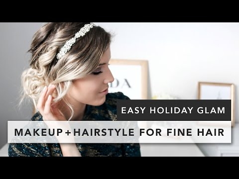 Easy Holiday Hairstyle for Fine Hair + Makeup