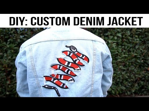 Denim Jacket with Embroidery Patches EASY Custom