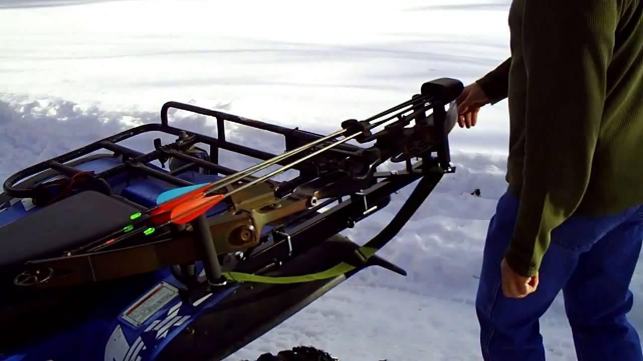 atv utv 4 wheeler gun bow holder rack