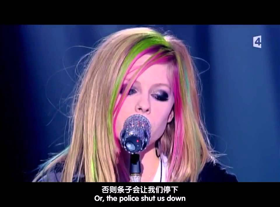 [中英字幕]Tik Tok Avril Lavigne_Live_at_Taratata - YouTube