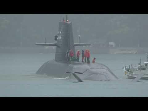 M180929  海上自衛隊潜水艦 『しょうりゅう』公試 由良港出港