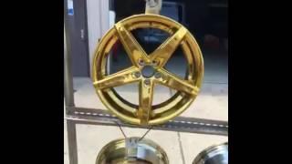 Video Powder coating Lexani wheels candy gold. download MP3, 3GP, MP4, WEBM, AVI, FLV Mei 2018