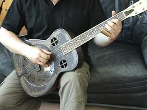 Amistar singlecone resonator guitar! Open C tuning.