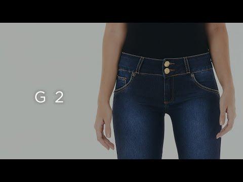 Guia Jeans - Calça Cintura Baixa - G2 - Feminina