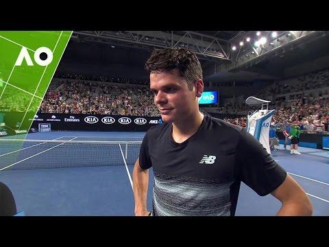 Milos Raonic on court interview (4R) | Australian Open 2017