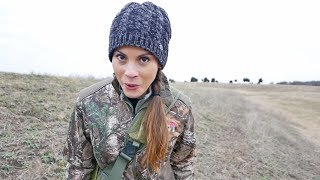 Her First Time Deer Hunting (Sees Up Close BOBCAT ATTACK!)