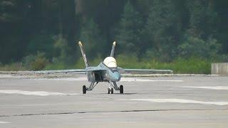 RC Jet F-18 Super Hornet Gas Turbine Jet - Flight and Crash Landing