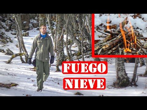 Haciendo Fuego En La Nieve - Cómo Hacer Una Fogata