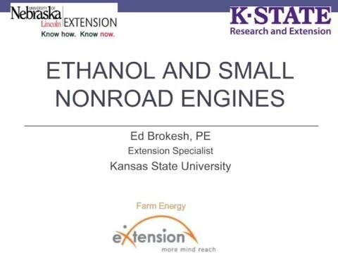 Ethanol and Small Engines