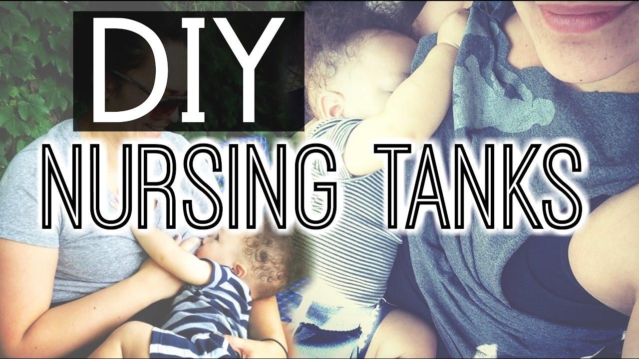 Diy Nursing Tanks No Sew Discreet Breastfeeding In Public
