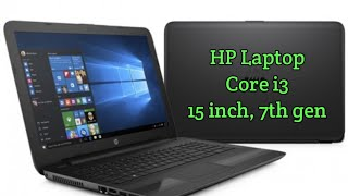 HP Laptop, Core i3-7020U, 15 inch, 4GB RAM, 500GB HDD, 7th gen | Best cheap laptop