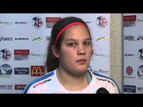 Women's U19 WFC 2016 - LAT v FIN - Post Game Interview