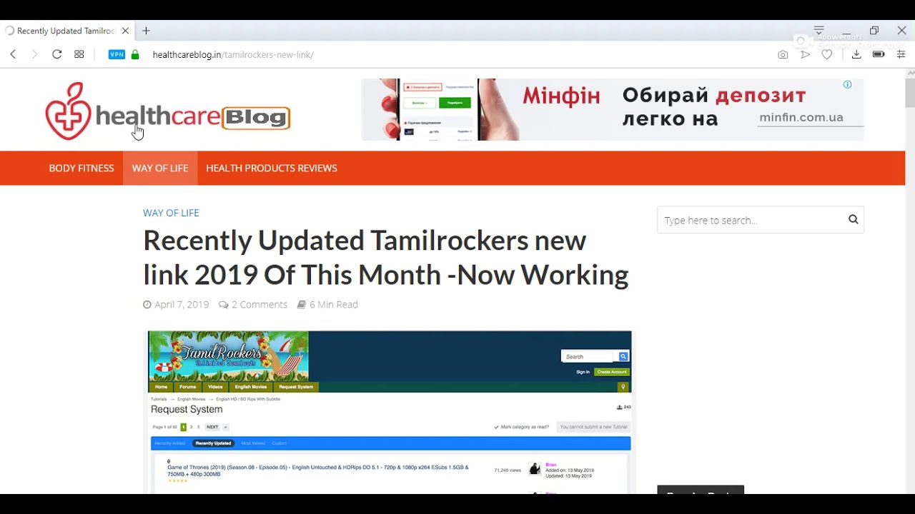 Recently Updated Tamilrockers new link 2019 Of This Month -Now Working