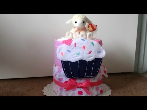 Diaper Cake, Two Tier: Sweet Treats Theme
