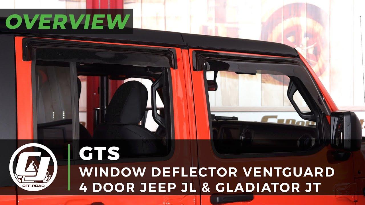 2018-2020 JL Wrangler or Gladiator | GTS Smoked Ventguard Window Deflector