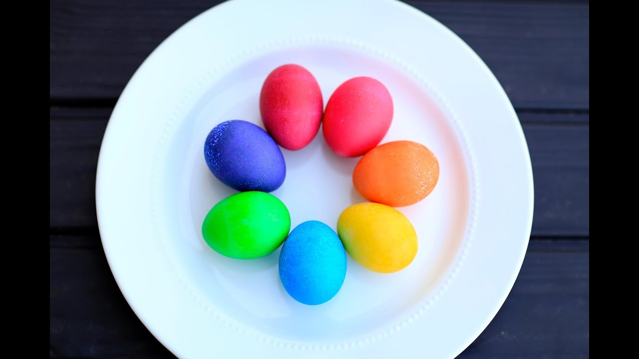 DIY Vibrant Easter Egg Colors | Brooklyn and Bailey - YouTube