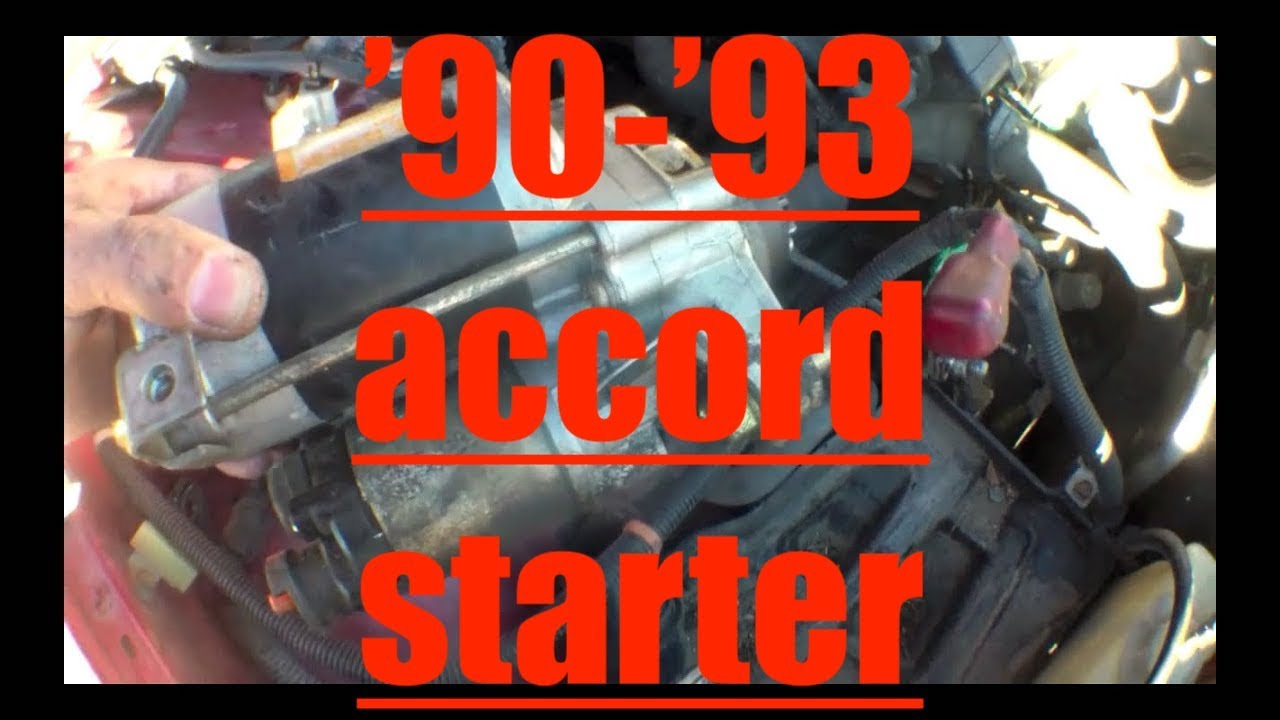 1992 Honda Accord Starter Diagram Engine Clicking Motor Replacement Youtube Rh Com Relay Location 92 Wiring