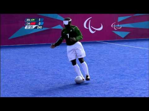 Football 5-a-side - BRA vs CHN - 2nd half - Men's - B1 Prelims - London 2012 Paralympic Games