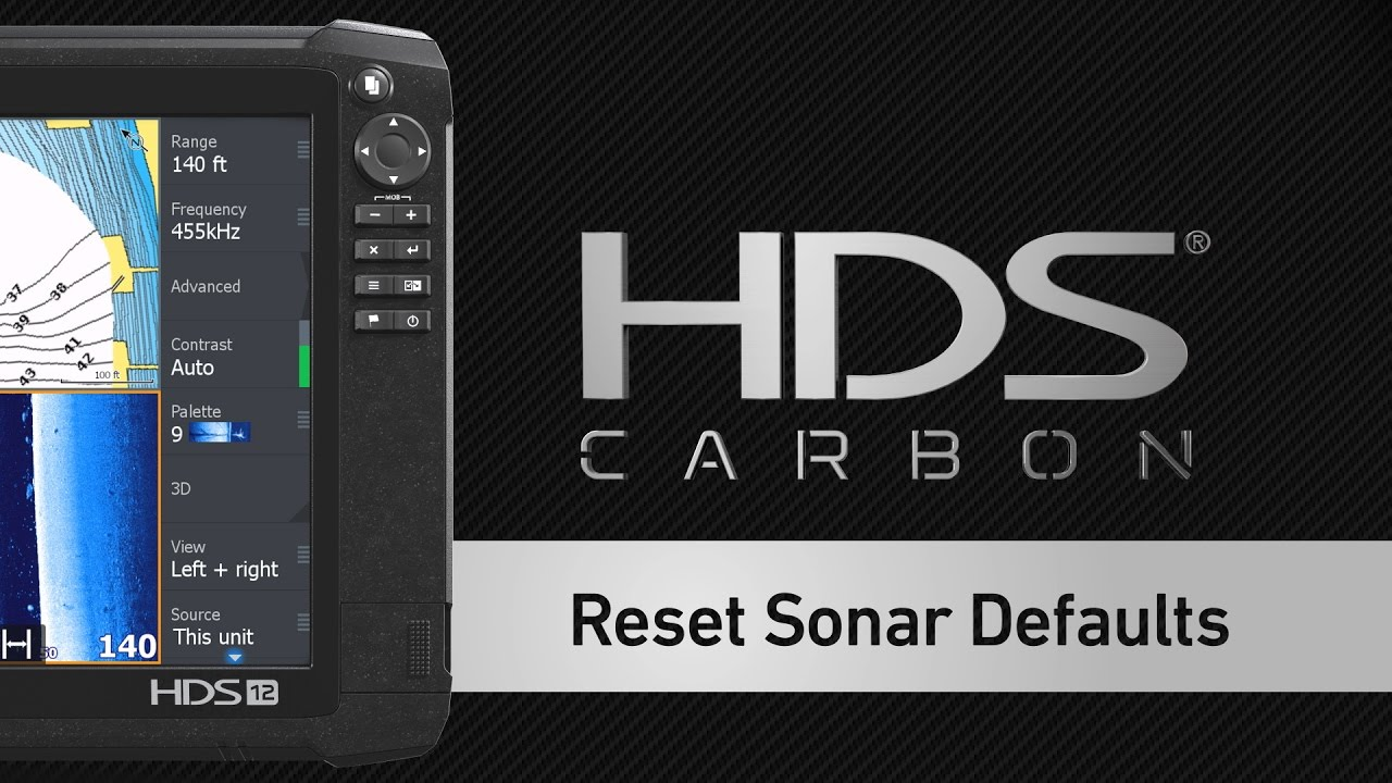 How to Reset Sonar Defaults on a Lowrance HDS Display