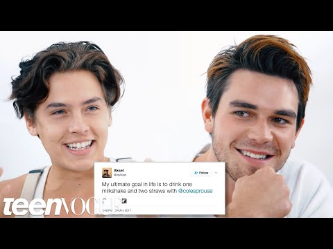 Riverdale&39;s Cole Sprouse & KJ Apa Compete in a Compliment Battle  Teen Vogue