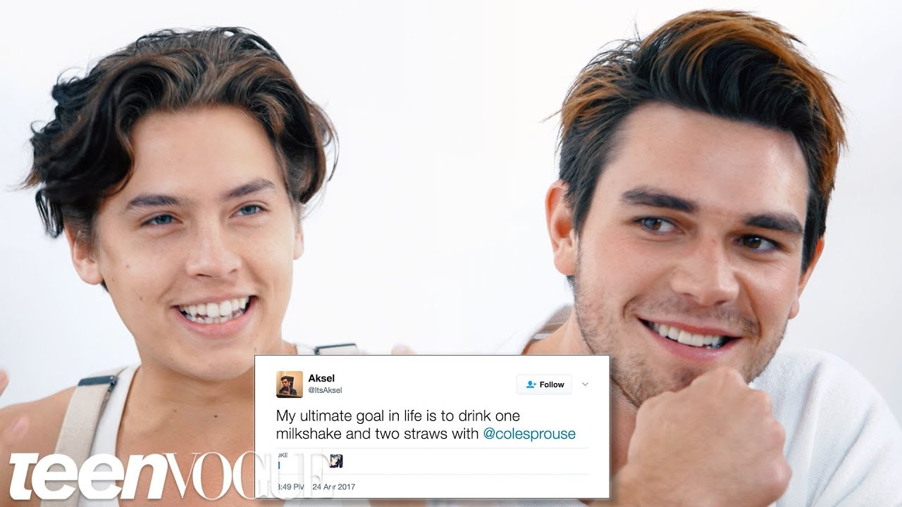 Riverdales cole sprouse kj apa compete in a compliment battle riverdales cole sprouse kj apa compete in a compliment battle teen vogue kristyandbryce Choice Image