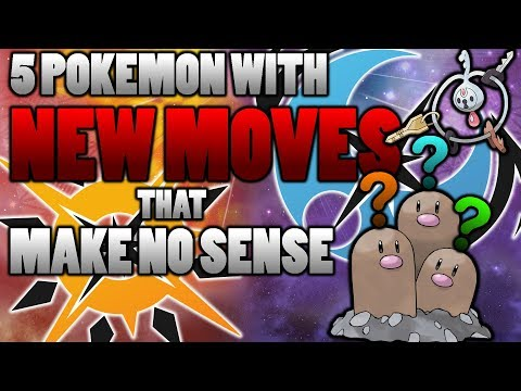 5 Pokemon With New Moves That Make No Sense In Pokemon Ultra Sun and Moon! (ft. NotVeryRitch)