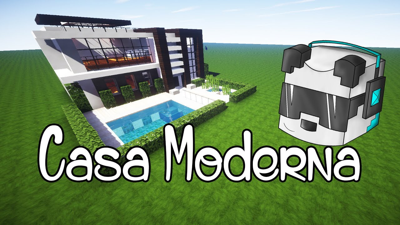 Como hacer una linda casa moderna en minecraft youtube for Casa moderna tutorial facil de hacer