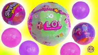 LOL Surprise Baby Doll + Shopkins Christmas Bauble Ornaments Blind Bags