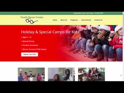 Web Design for the Youth Focus Center in Marietta, GA
