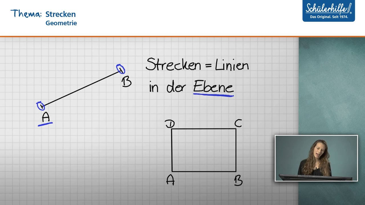 strecken zeichnen messen mathematik sch lerhilfe lernvideo youtube. Black Bedroom Furniture Sets. Home Design Ideas