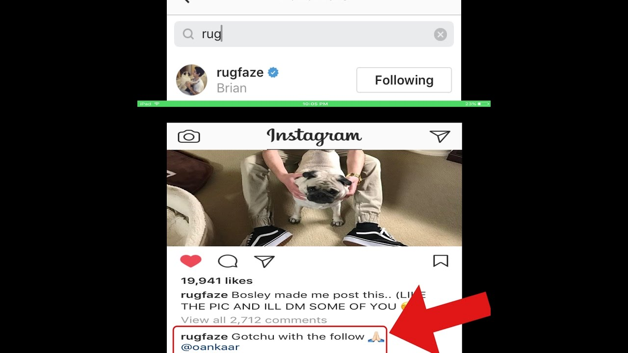Faze Rug Followed Me On Instagram