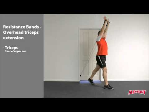 Resistance Band Overhead Triceps Extension