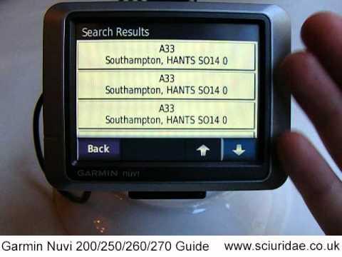 Beginners Guide To Garmin Nuvi 200 / 250 / 260 / 270 GPS Sat Nav