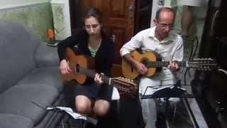 Hino 276 CCB cantado - Viola caipira - Rosário e Lariane