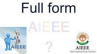 AIEEE full form in hindi
