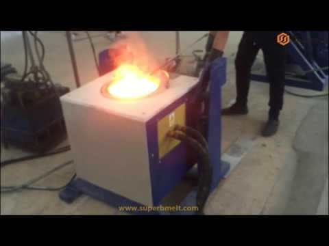 Simple type hydraulic induction furnace with PLC
