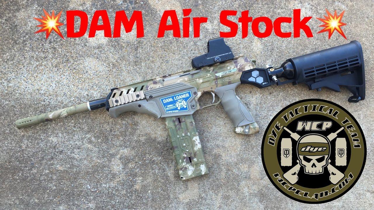 DYE DAM Air Stock Assembly & Test Fire Dynamic Sports Gear