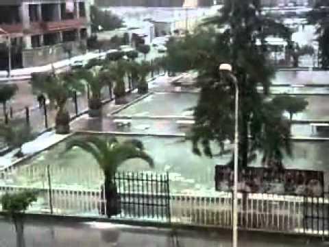 REGHAIA TOWN UNDER SNOW--ALGIERS-ALGERIA 4-2-2012