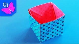 Волшебная Оригами Коробочка из бумаги(Волшебная оригами Коробочка - Трансформер из бумаги - превращается легким движением руки в плоский квадрат..., 2014-12-01T12:05:16.000Z)