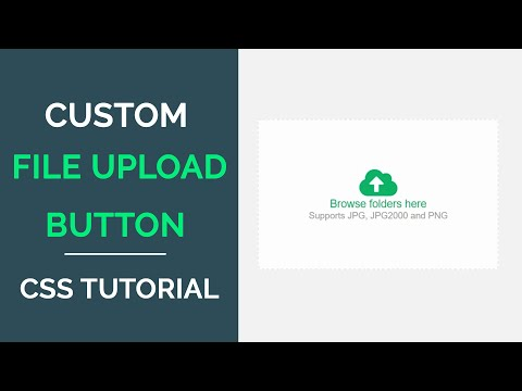 How To Make Custom File Upload Button In HTML | CSS & JavaScript Code4education | 2020