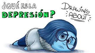 ¿qué es la depresión? drawing about con glóbuloazul