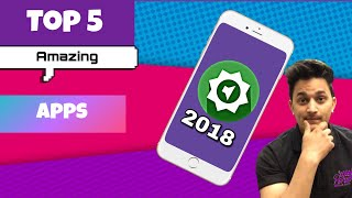 Top 5 unique apps // best app 2018 // 5 latest app for android // #tggyan