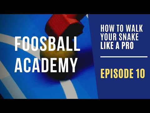 How to Walk Your Snake Shot / Rollover Like a Pro | Foosball Academy: Ep. 10 (foosball tips)