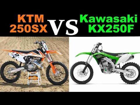 2017 KTM 250SX Vs 2017 Kawasaki KX250F - YouTube