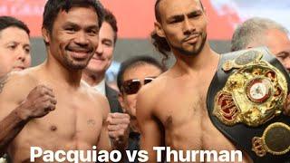 Manny Pacquiao vs Thurman Live in Las Vegas