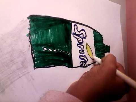 How To Draw A Sprite Bottle Easy Youtube