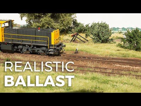 Modelling realistic ballast - model scenery tutorial #1