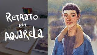 Pintando um retrato em aquarela no sketchbook | Rodrigo Falco