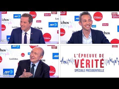 Invités : Nicolas Dupont-Aignan / Ian Brossat / Gérard Collomb - L'épreuve de vérité (18/04/2017)